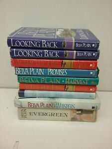 Lot of 9 Belva Plain Hardcover Books Lot#5-0200