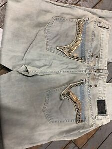 Men#x27;s Designer Jeans Mens Jean with Studs Crystal Pockets Robin Pants