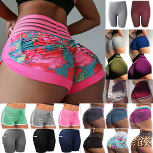 Compression Women Booty Shorts Yoga Pants Sport Gym Fitness Running Butt Lift TS