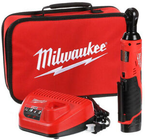 Milwaukee M12 Ratchet 38 in. 12-Volt Lithium-Ion Cordless 1.5Ah Battery Charger