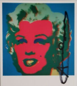 Andy Warhol Marilyn Monroe 1967 hand signed invitation card