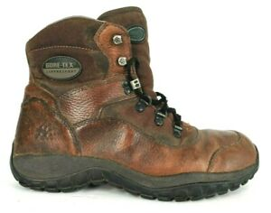 Wolverine Gore-Tex Supprescent Mens 9 Brown Leather Waterproof Boots Hiking Work