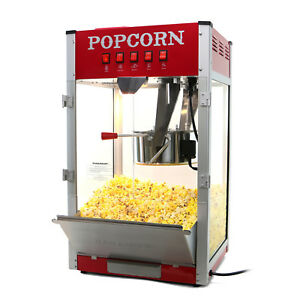 Paramount 16oz Commercial Popcorn Maker Machine 16 oz Kettle Popper Red