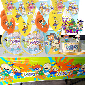 RUGRATS CUPCAKE CAKE TOPPER CUP PLATE  party balloon decoration banner supplies