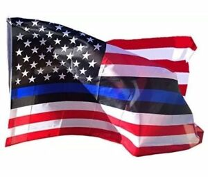 FAST SHIP Thin Blue Line American Flag Police Lives Matters LEO 3x5 3ft by 5ft