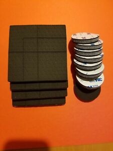 SlipToGrip Non Slip Furniture Pad Grippers with Adhesive Side Combo Pack 4quot; 2quot;