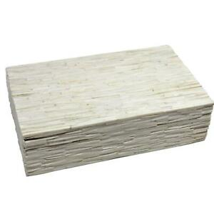 Elegant Natural White Tiled Decorative Box  15
