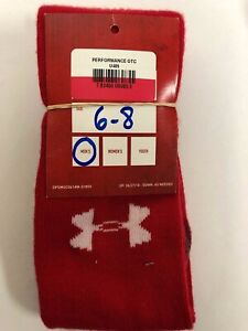 Under Armour Performance OTC All Sport Cushioned Socks RED Size 6-8  U405
