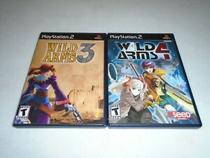 Wild Arms 3 & 4 by SCE XSEED Games ☆☆ Complete (Sony PlayStation 2) PS2