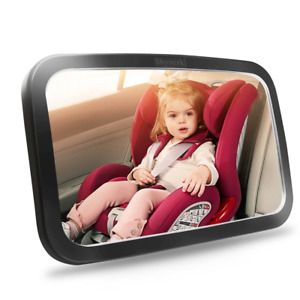 Baby Car Mirror Safety Seat for Rear Facing Infant with Wide Crystal Clear View