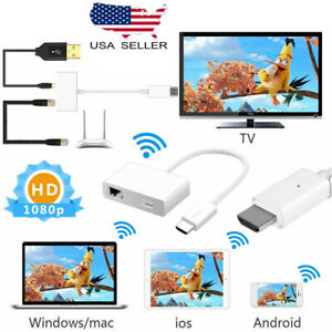 Mirror Screen WiFi Display Dongle Wireless HDMI Receiver for iPhone Windows