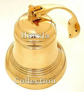 Polished Brass Maritime Heavy Titanic Ship Bell 9 Hanging Nautical Wall Decor $159.99