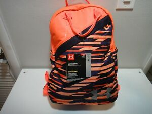 Under Armour Girls Strom Favorite BackPack Padded Back Panel Orange Purple