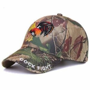NEW NEAT Baseball Cap Camo Outdoor Hunting Embroidery Pheasant COCK FIGHT PATCH