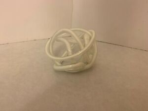 Blown Art Glass - Abstract - Twisted Rope Knot Sculpture - 5