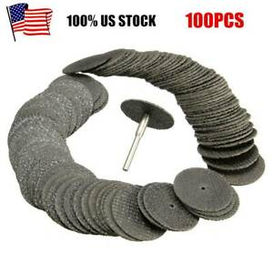 100PCS Fiberglass Reinforced Cut Off Wheel Disc w/ Mandrel 1/8