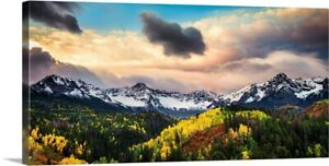 Sunrise and Clouds Over Colorado#x27;s Canvas Wall Art Print Mountain Home Decor
