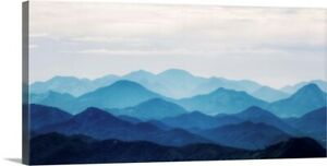 Blue Mountains Canvas Wall Art Print Mountain Home Decor