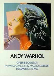 Andy Warhol - Herself from the Ingrid Bergman portfolio Hand signed poster 1983