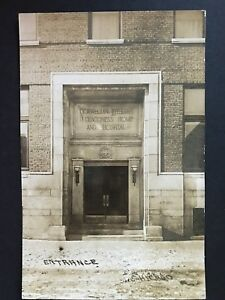 Norwegian Lutheran Deaconess Home and Hospital Chicago Entrance RPPC