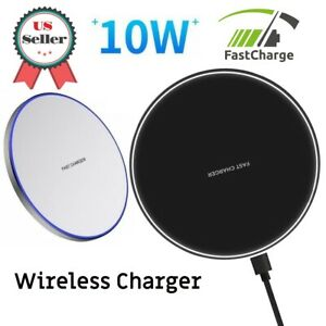 Qi Wireless Charger Fast Charging Pad For iPhone 8 X XS XR, Galaxy S7 S8 S9 S10