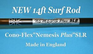 14ft Graphite Surf Fishing Rod - Made in England - Fuji Titanium Guides