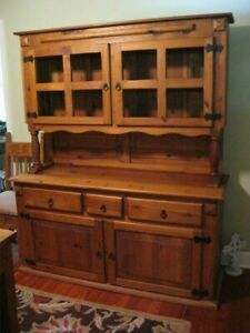 Rustic Mexican Furniture Dining Room Set Table Sideboard Hutch 6 Chairs