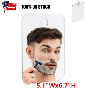 Fog Free Shower Mirror Men's Fogless Travel Shaving Mirror With Suction Cup