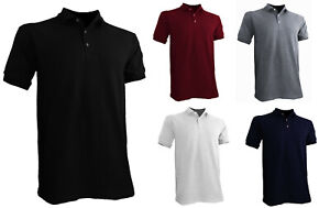 Styllion Big and Tall Mens Pique Polo Shirts Heavy Weight Collar PQSS $18.99