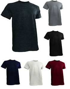 Styllion Big and Tall Crew Neck Mens Shirts Heavy Weight Stretchable CSS $15.99