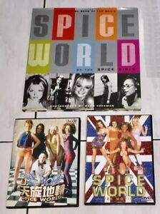 Spice Girls 1997 Spice World The Movie Taiwan 1 Photo Book + 2 DVD +