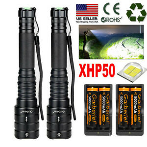 XHP50 90000LM Tactical Zoomable SWAT 18650 LED Flashlight Torch light US Stock