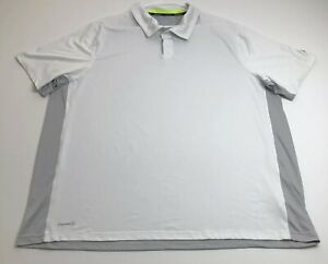 Russell Training Fit Mens Polo Pullover Shirt XXXL White Short Sleeves Dri Power $11.99