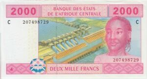 Central African States Chad P. 608c 2000 Francs 2002 AU WE COMBINE $9.00
