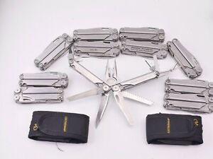 Leatherman Wave Multi-Tool Pliers 18 Tools 2 Knives File Saw Bit Driver USA Made