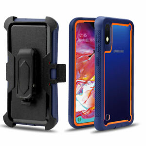 For Samsung Galaxy A50 A20 A30 A10 Rugged Case Cover With Kickstand Belt Clip