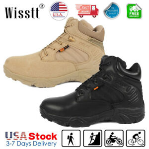 Men's Military Tactical Boots Desert Army Hiking Security Combat Ankle Boots USA