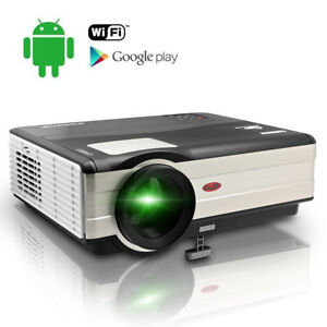 LED Android WiFi Projector Home Theater Wireless Movie Football Game HDMI VGA TV