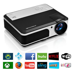 Full HD Vide Android Wifi Bluetooth Projector Home Cinema Xbox PS4 Game Party TV