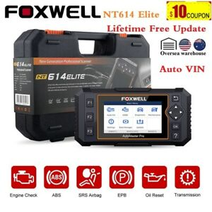 Foxwell NT614 Elite Auto Diagnostic Tool OBD2 Code Reader Car Scanner ABS Airbag