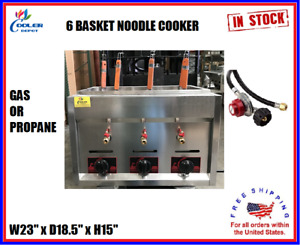 6 Basket Gas Propane Noodle Pasta Ramen Cooker Stainless Steel PN8 New Improved