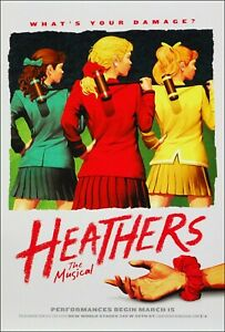 Heathers 1 Poster Broadway Musical Promo 11 x 17 inches
