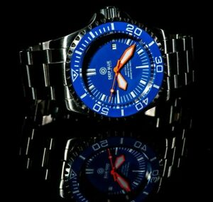 DEEP BLUE MASTER 2000 SWISS MADE 2824-2 AUTOMATIC WITH DIVERS EXTENDED BRACELET