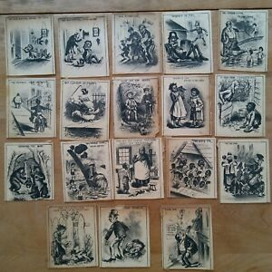 vintage 1880s lot of 18 cards post drinking beer booze politcal african american