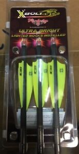 NEW  3 VICTORY CROSSBOW BOLTS ( 3 RED LIGHTED NOCKS IN Bolts) 20