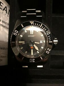 Ocean7 LM-8 Professional Deep Diver 2000m Swiss Automatic 45mm Black Ceramic