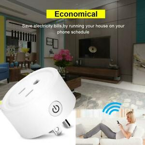 Smart Power Socket Wifi Wireless Mini Switch Voice Control Timer Outlet US Plug