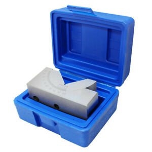 .0004quot; .01mm Precision Angle Block 0 60 Degree V Groove Angle Block Gauge $55.50