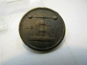 NEW YORK NY GROCERY MERCHANT CIVIL WAR  STORE CARD TOKEN