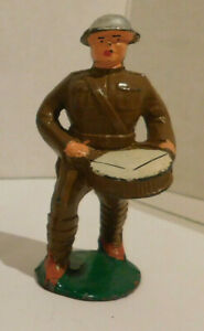 Vintage/Antique Barclay Manoil Lead Toy Soldier Marching Drummer WWI